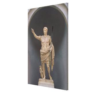 Augustus de Prima Porta, c.20 A.C. (mármol) Impresión En Lienzo