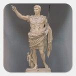 Augustus de Prima Porta, c.20 A.C. (mármol) Pegatina Cuadrada