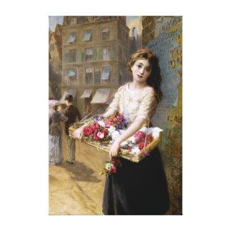 Augustus Edwin Mulready: A Street Flower Seller Canvas Prints
