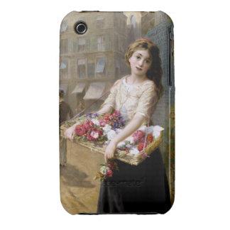 Augustus Edwin Mulready: A Street Flower Seller Case-Mate iPhone 3 Case