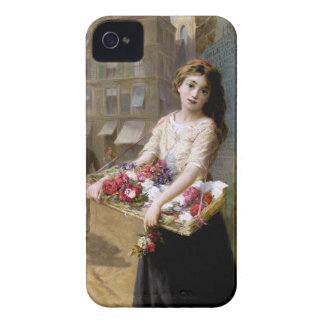 Augustus Edwin Mulready: A Street Flower Seller iPhone 4 Cases
