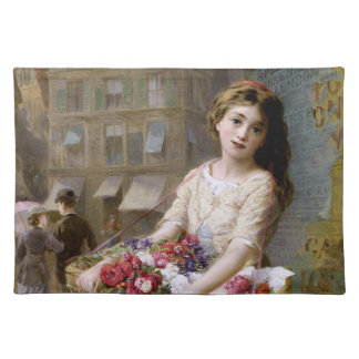 Augustus Edwin Mulready: A Street Flower Seller Placemat