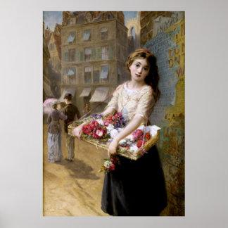 Augustus Edwin Mulready: A Street Flower Seller Posters