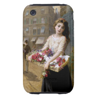 Augustus Edwin Mulready: A Street Flower Seller Tough iPhone 3 Cases
