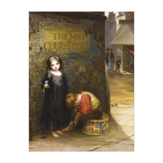 Augustus Edwin Mulready: Uncared-For Gallery Wrap Canvas