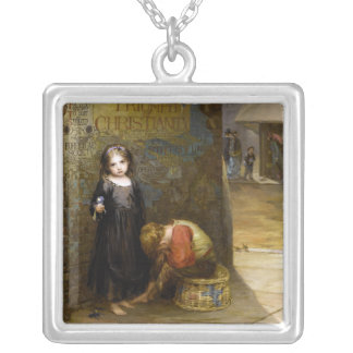 Augustus Edwin Mulready: Uncared-For Square Pendant Necklace