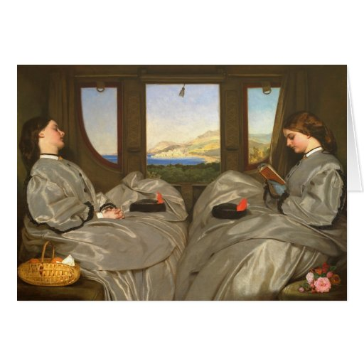 Augustus Egg The Travelling Companions CC0457 Greeting Card