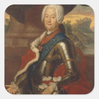 Augustus Louis, Prince of Anhalt-Kothen Square Sticker