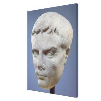 Augustus, marble head, c.27-20 BC Canvas Print