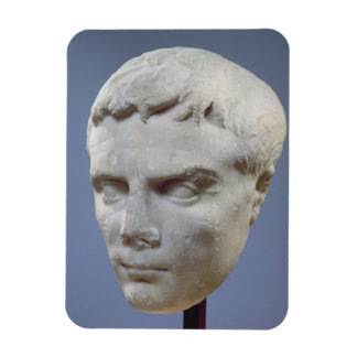 Augustus marble head c 27-20 BC Rectangle Magnet