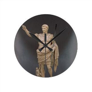Augustus of Prima Porta, c.20 BC (marble) Round Clock