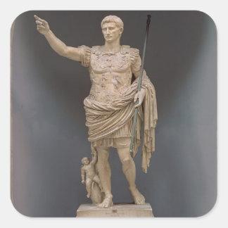 Augustus of Prima Porta, c.20 BC (marble) Square Sticker