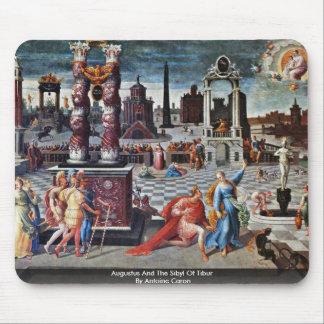 Augustus y la sibila de Tibur de Antoine Caron Alfombrillas De Ratón