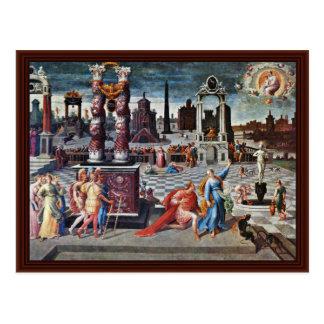 Augustus y la sibila de Tibur de Antoine Caron Tarjetas Postales