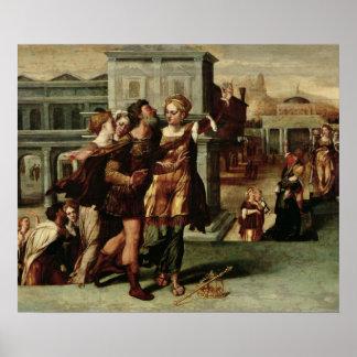 Augustus y la sibila de Tiburtine, c.1540-50 Póster
