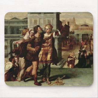 Augustus y la sibila de Tiburtine c 1540-50 Alfombrillas De Ratones