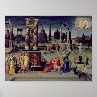 Augustus y la sibila de Tiburtine Póster