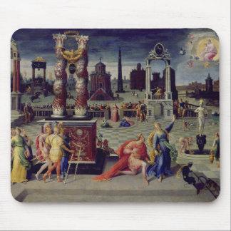 Augustus y la sibila de Tiburtine Alfombrillas De Ratón