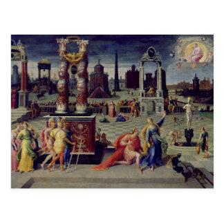 Augustus y la sibila de Tiburtine Tarjeta Postal