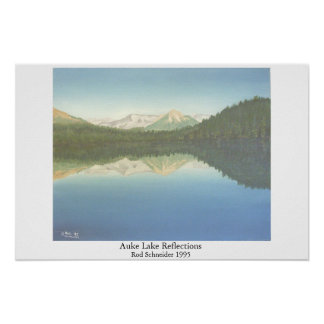 Auke Lake Reflections Poster