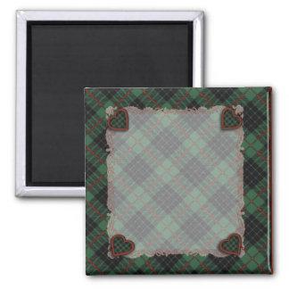 Aulay clan family Plaid Scottish kilt tartan 2 Inch Square Magnet