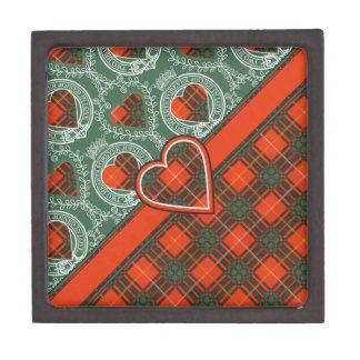 Aulay clan family Plaid Scottish kilt tartan Jewelry Box