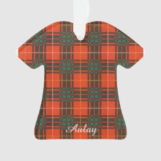 Aulay clan family Plaid Scottish kilt tartan Ornament