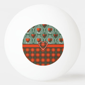 Aulay clan family Plaid Scottish kilt tartan Ping Pong Ball