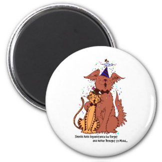 Auld Aquaintance Dog and Cat 2 Inch Round Magnet