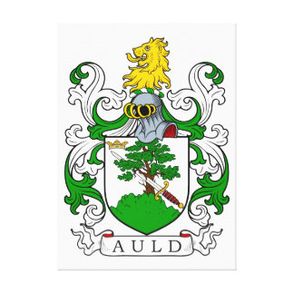 Auld Coat of Arms I Canvas Print