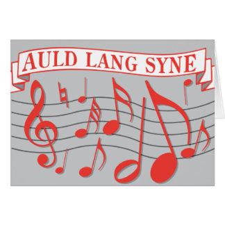 Auld Lang Syne Card