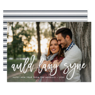 Auld Lang Syne | New Year Photo Card