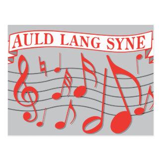 Auld Lang Syne Postcard