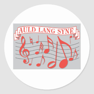 Auld Lang Syne Round Sticker
