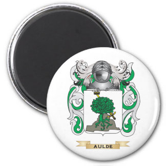 Aulde Coat of Arms (Family Crest) 2 Inch Round Magnet