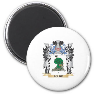 Aulde Coat of Arms - Family Crest 2 Inch Round Magnet