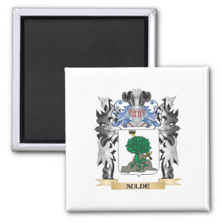 Aulde Coat of Arms - Family Crest 2 Inch Square Magnet