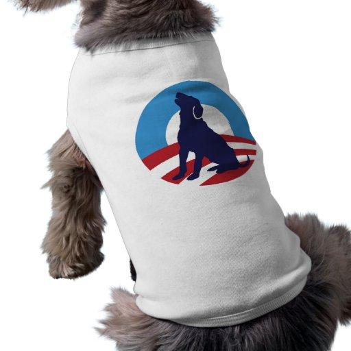 Aullido 2012 de Obama de la corteza Camisetas Mascota