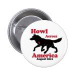Aullido a través del botón de América Pin