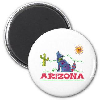 Aullido del coyote de Arizona Imanes De Nevera