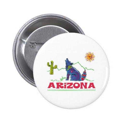 Aullido del coyote de Arizona Pin