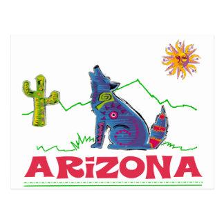 Aullido del coyote de Arizona Tarjetas Postales