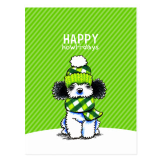 Aullido-yo-días felices del navidad de la bufanda tarjeta postal