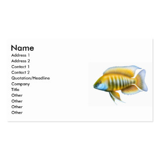 Aulonocara African Cichlid Business Card