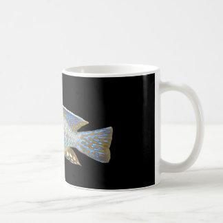 Aulonocara steveni male classic white coffee mug