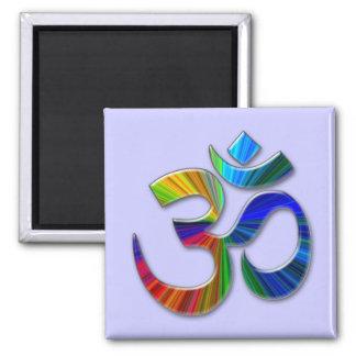 aum 2 inch square magnet