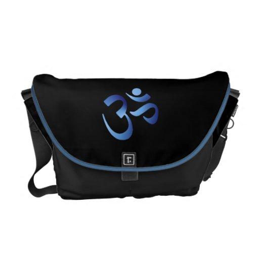 Aum azul bolsa de mensajería