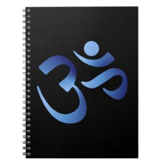 Aum azul libros de apuntes