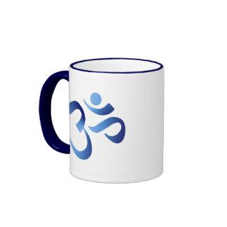 Aum azul taza de dos colores