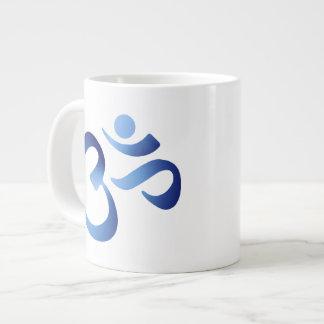 Aum azul taza grande